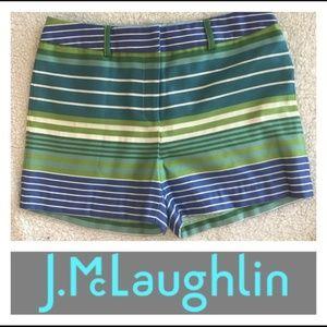 J. McLaughlin Tina Novelty Striped Shorts